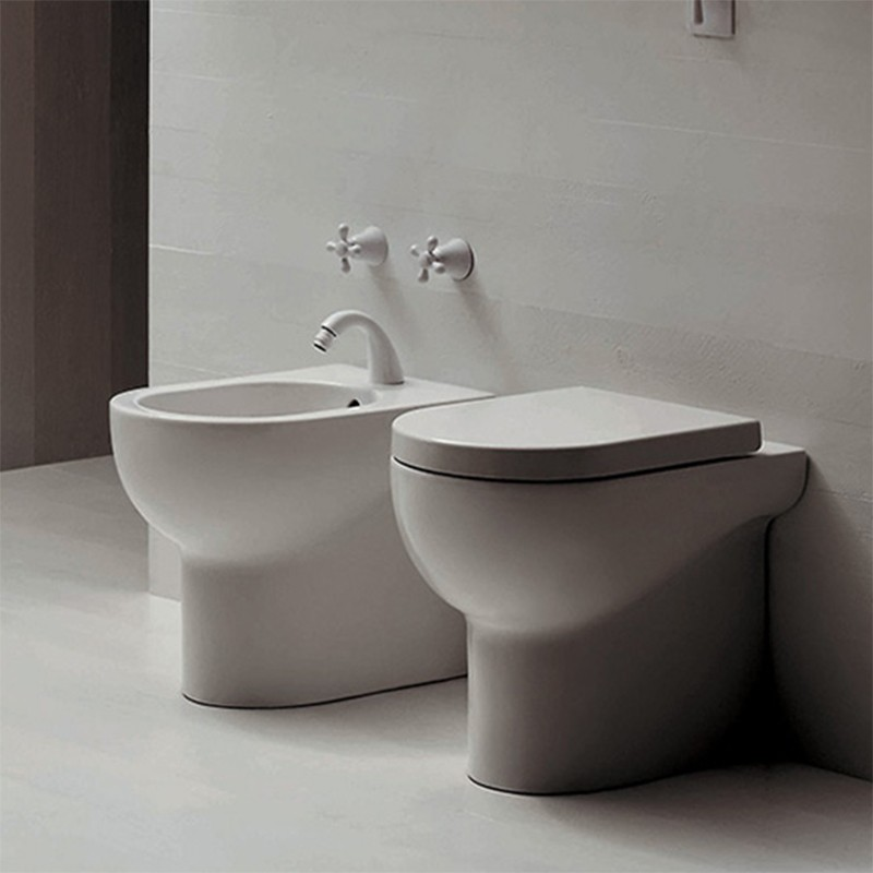 Wc e bidet terra nuvola ceramiche addeo for Azzurra sanitari