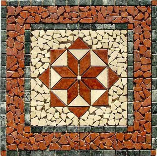 Rosoni in marmo anticato ceramiche addeo - Piastrelle tipo mosaico ...