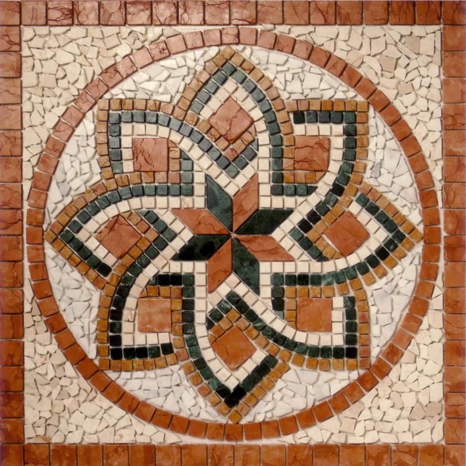 Rosoni in marmo anticato ceramiche addeo for Mosaici e marmi per pavimenti e rivestimenti