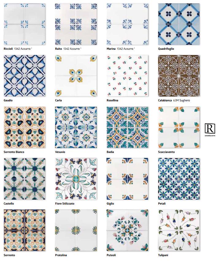 Classico vietri ceramiche addeo - Ceramiche bagno classico ...