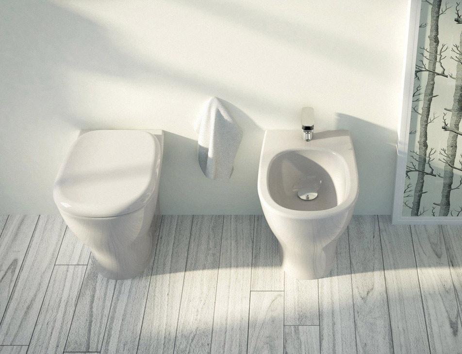 Ten wc filo muro ceramiche addeo - Sanitari filo parete prezzi ...
