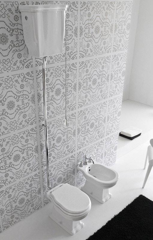 Hermitage cassetta alta c coperchio ceramiche addeo for Accessori sanitari bagno