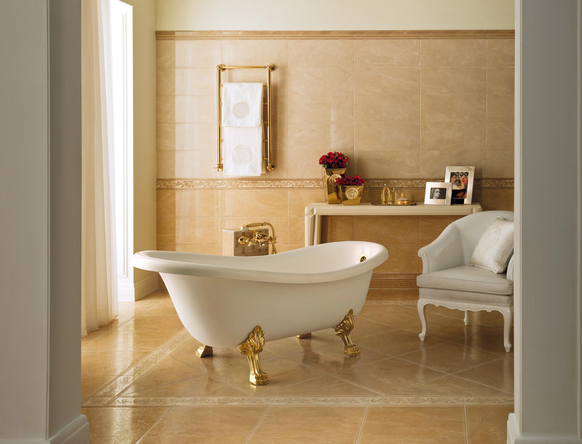 50 50 venere oro ceramiche addeo - Pavimenti e rivestimenti bagno classico ...