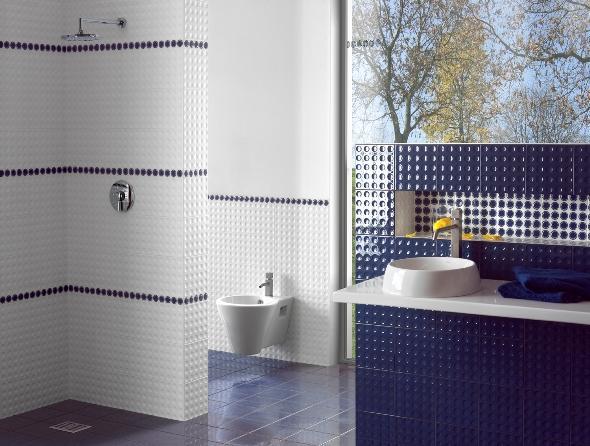 Zero rivestimento bagno ceramiche addeo - Bagno blu e bianco ...