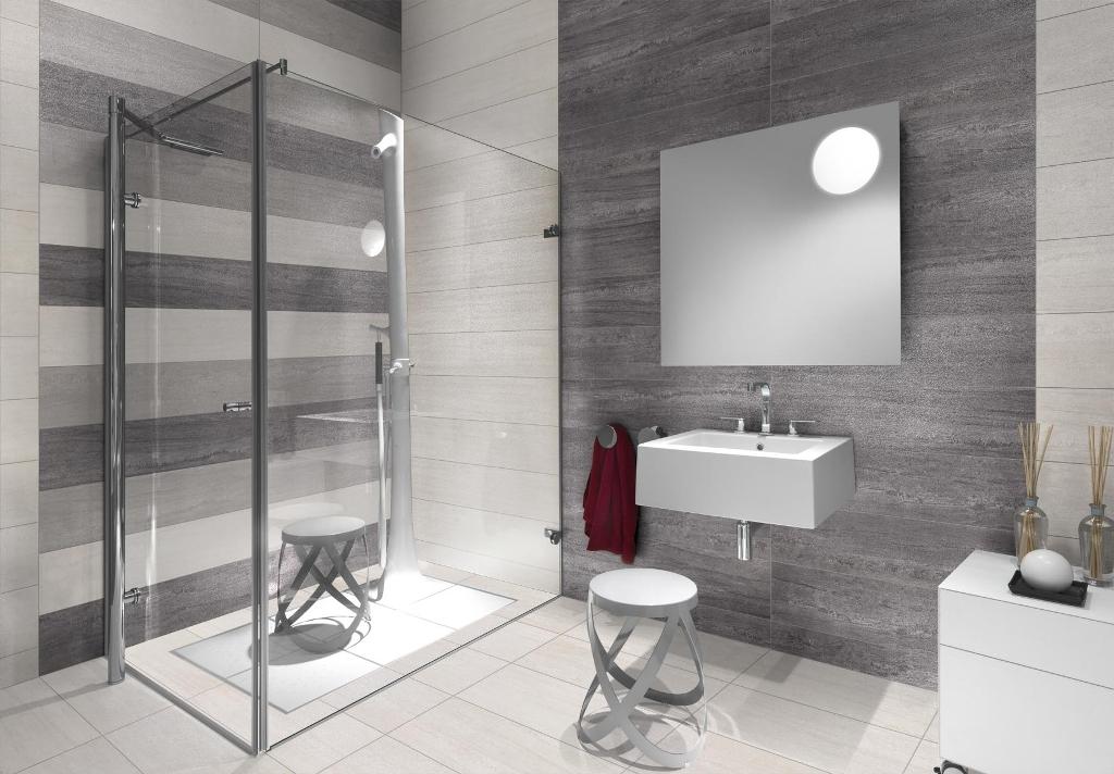 Rivestimenti bagno grigio e bianco abbinamenti base per il