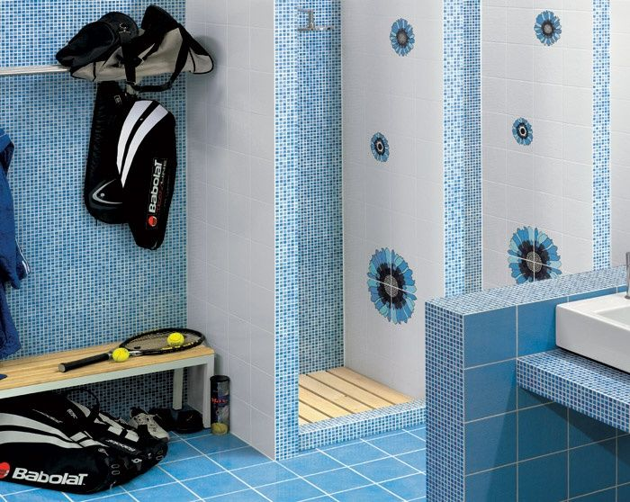 Operazione vasca doccia ceramiche addeo - Mosaico blu bagno ...