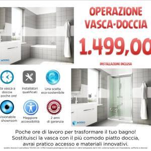 Operazione vascadoccia x uac with vasca doccia - Quanto costa togliere vasca da bagno e mettere doccia ...