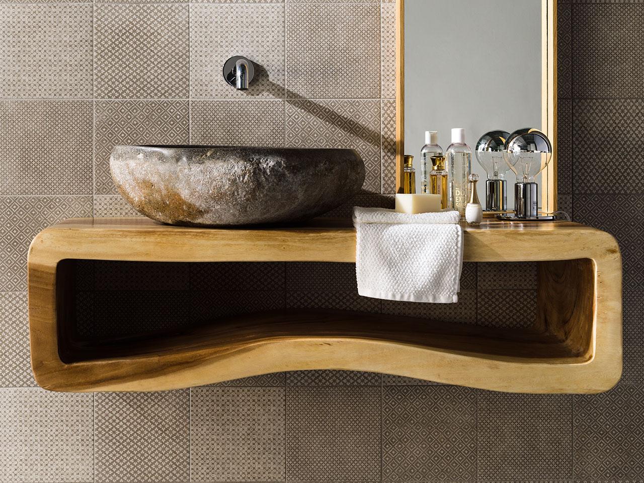 Joya lavabo in pietra di fiume ceramiche addeo - Lavabo pietra bagno ...