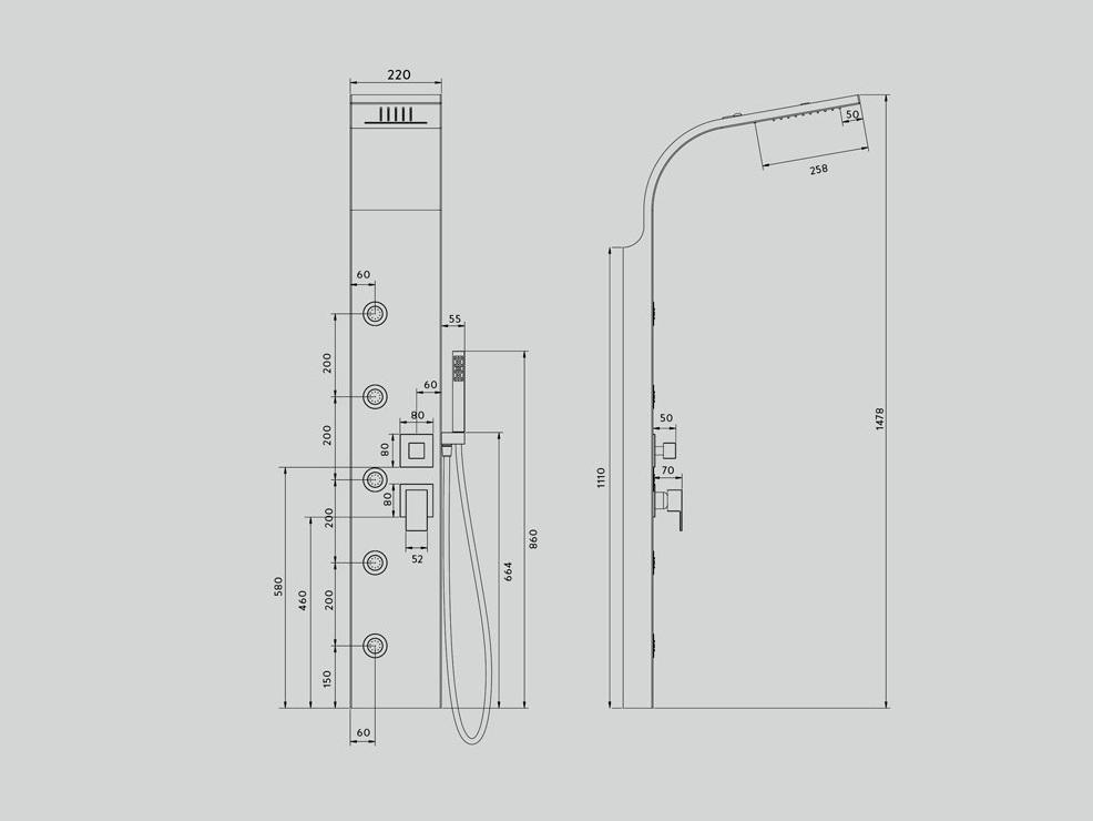 Smeraldo 2 – colonna doccia | Ceramiche Addeo