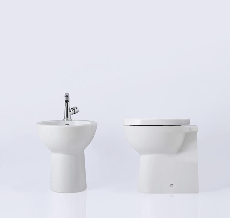 Wc e bidet filo parete full 48 ceramiche addeo - Sanitari filo parete prezzi ...