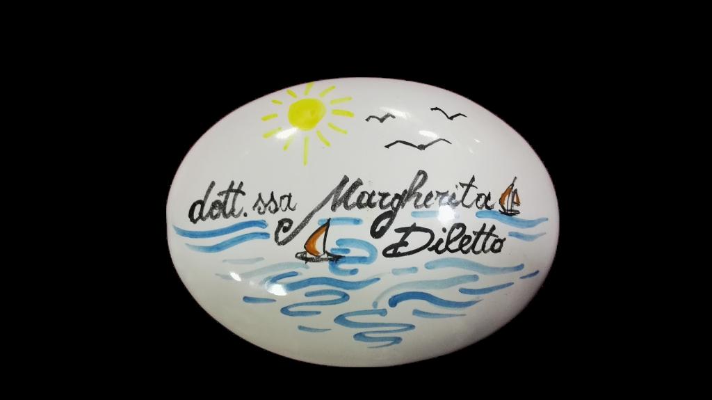 Targhette In Ceramica Per Porte.Targa Fuori Porta Personalizzata In Ceramica Ceramiche Addeo