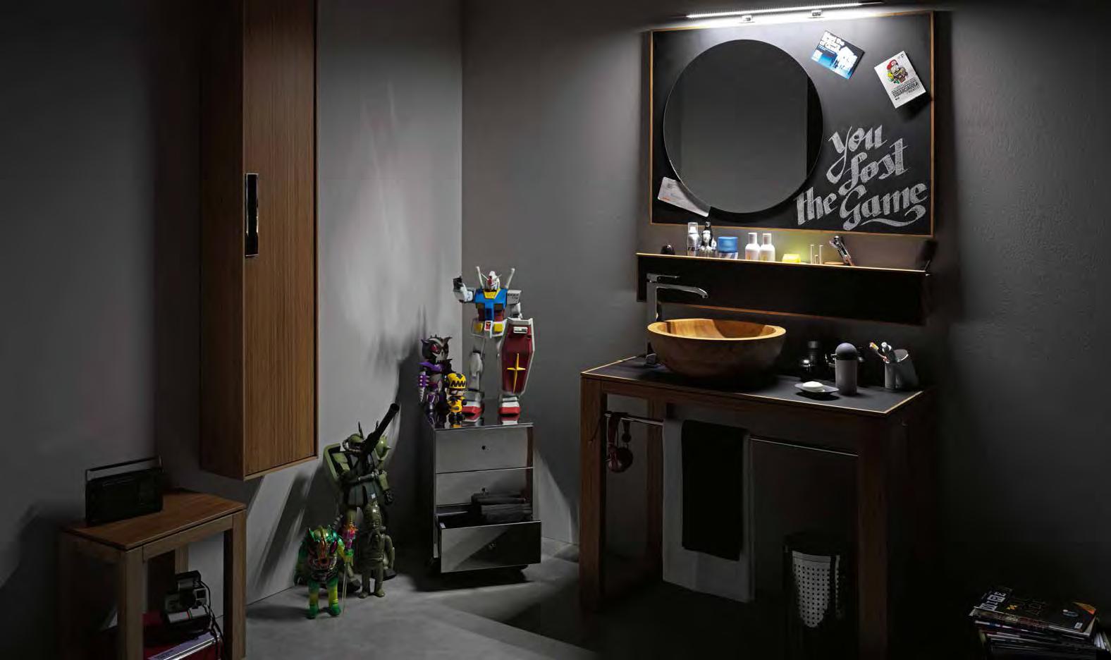 Specchio con lavagna 81143 ceramiche addeo - Lineabeta accessori bagno ...