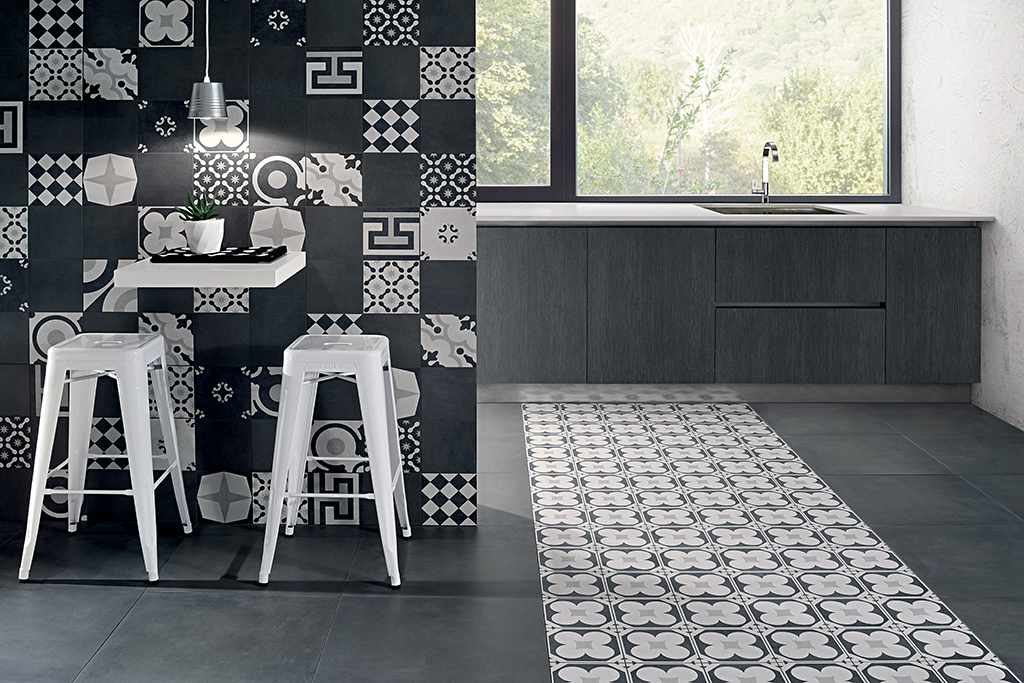 Cementine black white ceramiche addeo