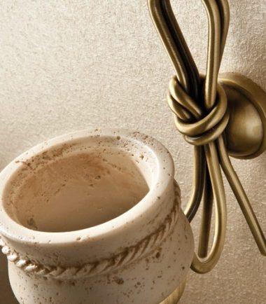 1851 bicchiere nodo bronzo travertino 2