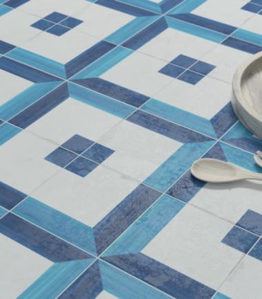 blanc et bleu square decor