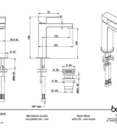 bongio line 67521CRPR scheda