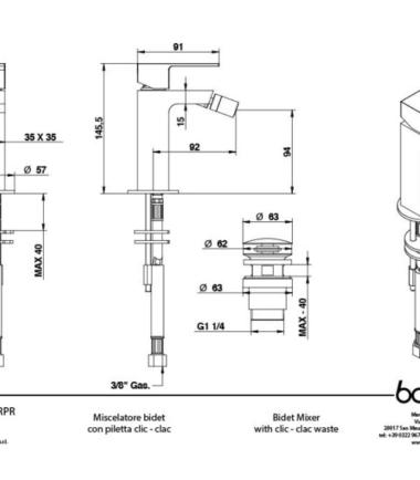 bongio line 67522CRPR scheda