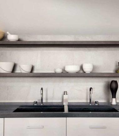 Indoor tile / floor / porcelain stoneware  / marble look