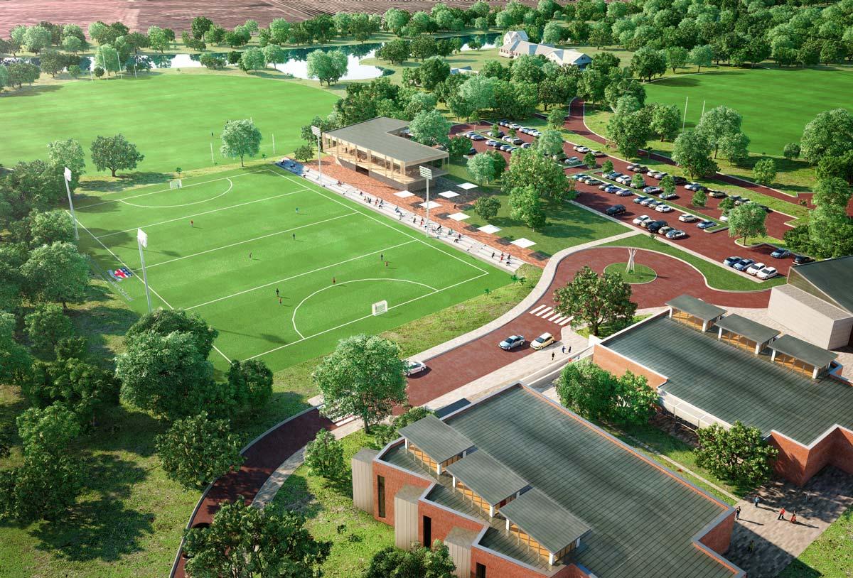 Aerial view renderings Perth